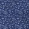 Music Notes Navy Pocket Square