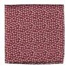 True Floral Red Pocket Square