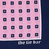 Noble Grid Baby Pink Pocket Square