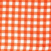 Checked Out Tangerine Pocket Square