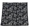 Serpentine Floral Black Pocket Square