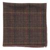 Wiseacre Wool Plaid Brown Pocket Square