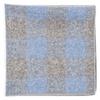 Printed Flannel Checks Blue Pocket Square