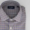 Multi Tone Gingham Navy Non-Iron Dress Shirt