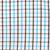 Business Check Aqua Non-Iron Dress Shirt