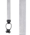 Solid Satin Silver Suspender