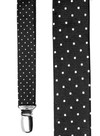 Mini Dots Black Suspender