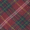 Christmas List Plaid Red Tie