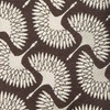 Art Deco Cranes Brown Tie