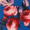 Rose Blooms Teal Tie
