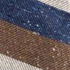 Unlined Textured Stripe Navy Tie