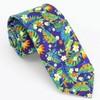 Tropical Blossoms Royal Blue Tie