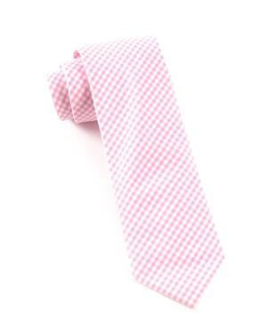 Petite Gingham Pink Tie