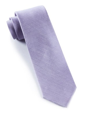 Solid Linen Lavender Tie