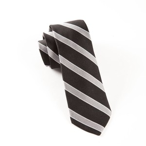 Honor Stripe Black Tie