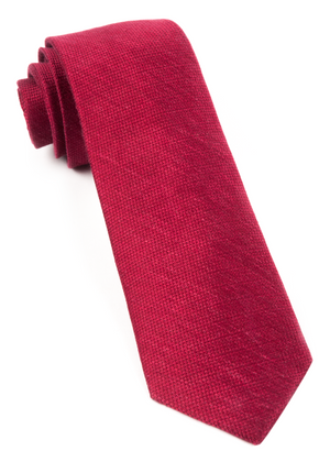 Festival Textured Solid Red Tie