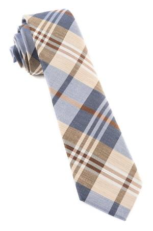 Crystal Wave Plaid Light Blue Tie