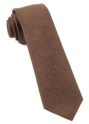 Linen Row Chocolate Brown Tie