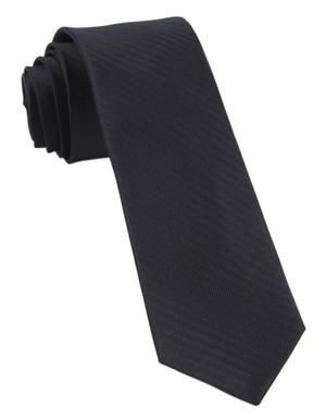Sound Wave Herringbone Black Tie
