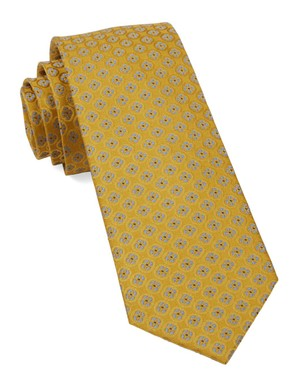 Bedrock Floral Yellow Gold Tie