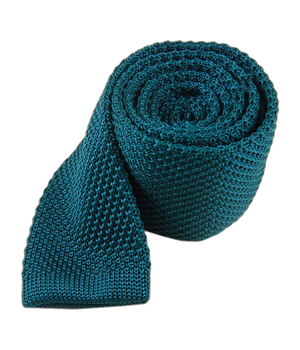 Knitted Teal Tie