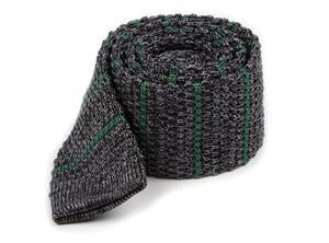 Scramble Knit Stripe Hunter Green Tie