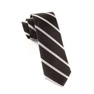 Trad Stripe Black Tie