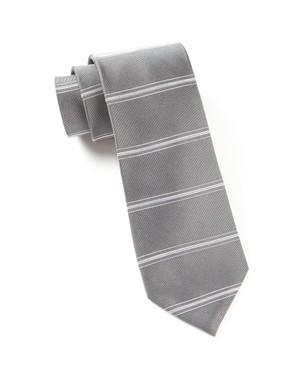 Ripon Horizontal Stripe Grey Tie