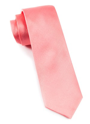 Grosgrain Solid Spring Pink Tie
