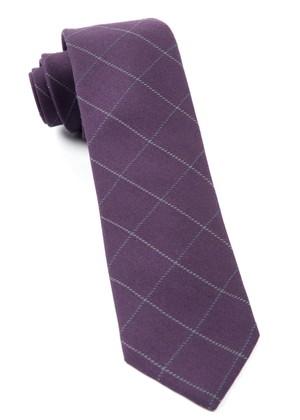 Goalpost Pane Eggplant Tie