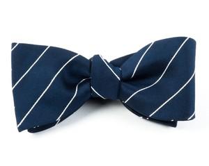 Pencil Pinstripe Classic Navy Bow Tie