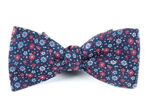 Milligan Flowers Navy Bow Tie
