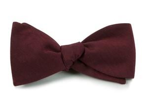 Astute Solid Burgundy Bow Tie