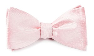 Mini Dots Blush Pink Bow Tie