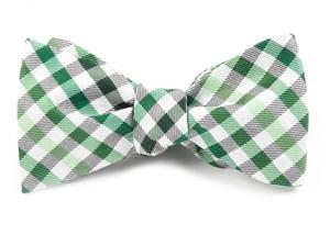 Gibson Check Green Bow Tie
