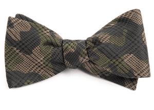 Caliber Camo Moss Green Bow Tie