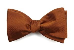 Grosgrain Solid Burnt Orange Bow Tie