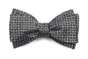 Opulent Black Bow Tie