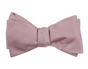 Grosgrain Solid Baby Pink Bow Tie