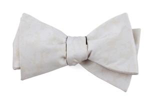 Refinado Floral Light Champagne Bow Tie