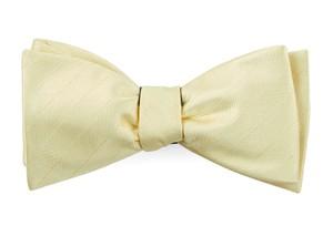 Herringbone Vow Butter Bow Tie