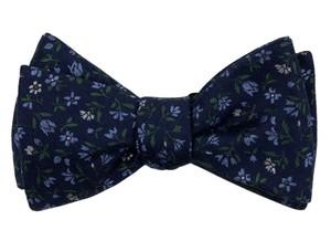 Floral Acres Navy Bow Tie