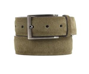 Solid Suede Olive Green Belt