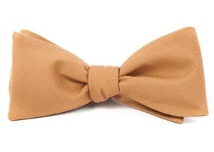 Solid Wool Mustard Bow Tie