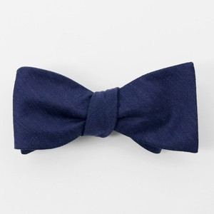 Bhldn Linen Row Navy Bow Tie