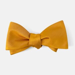 Grosgrain Solid Marigold Bow Tie