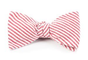 Seersucker Red Bow Tie