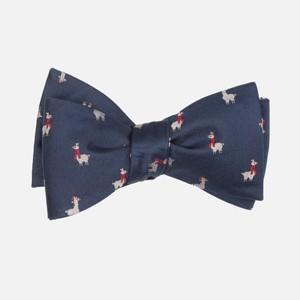 Fa-La Llama Navy Bow Tie