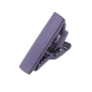 Metallic Color Eggplant Tie Bar