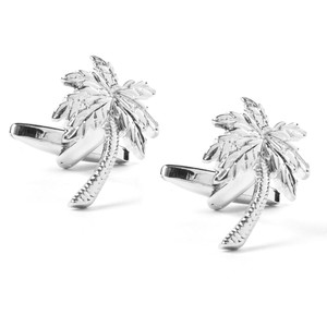 Palms Silver Cufflinks